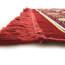 Load image into Gallery viewer, Double Turkish Islamic Prayer Rug Plush Velvet Janamaz Prayer Mat Large Size - Gate Design Red - MuslimPrayerRug