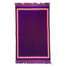 Load image into Gallery viewer, Plain Prayer Rug Turkish Islamic Plush Velvet Janamaz Prayer Mat - Plain Rectangle Design Purple - MuslimPrayerRug