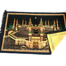 Load image into Gallery viewer, Turkish Islamic Tapestry Plush Velvet Wall Decor - Holy Kaaba Mecca Design - MuslimPrayerRug