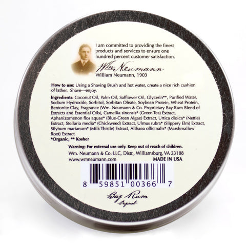 Shave-Soap, 4oz, Bay Rum