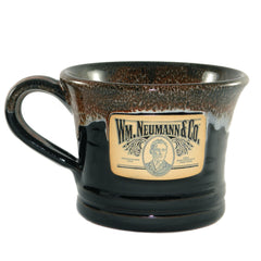 Stoneware Shave Mug-Black/Cinnamon Marble, Handcrafted in USA