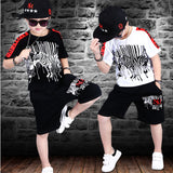 Sport Suits Teenage Summer Boys Clothing Sets Short Sleeve T Shirt & Pants - KB ALL ABOUT SERVICEZ