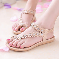 Women Sandals Flower Shoes Woman Flip Flops Fashion Summer Flat Sandals Bohemian Ladies Sandals Casual Women Shoes - KB ALL ABOUT SERVICEZ