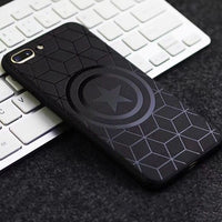 Marvel Avengers Captain America Shield Superhero Case for iPhone 6s 7 8 Plus X 10 Silicone Rubber Cover Ironman coque - KB ALL ABOUT SERVICEZ