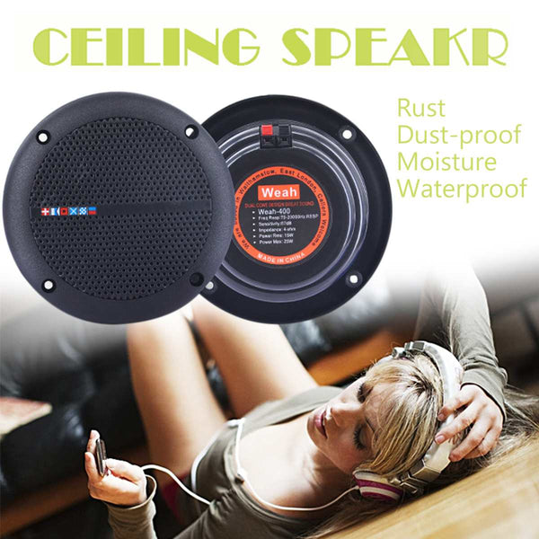 1 Pair Ceiling Speaker Loudspeakers Amplifier Waterproof - KB ALL ABOUT SERVICEZ