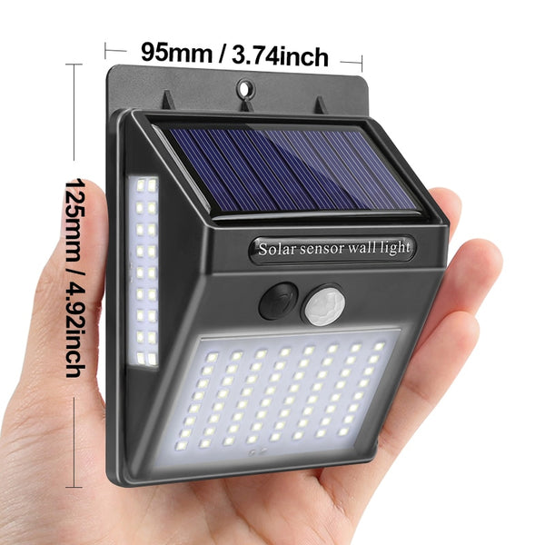 100 LED Solar Light Garden Solar Lamp PIR Motion Sensor Solar Powered By Sunlight Waterproof for Outdoor Wall Street Decoration - KB ALL ABOUT SERVICEZ