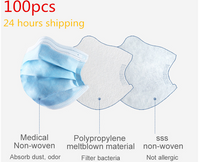 100PCS Disposable face mask mouth anti virus 3 layers mouth mask Anti Dust coronavirus MASK - KB ALL ABOUT SERVICEZ