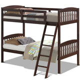 Twin Bunk Beds with Individual Kid Bed Ladder - KB ALL ABOUT SERVICEZ