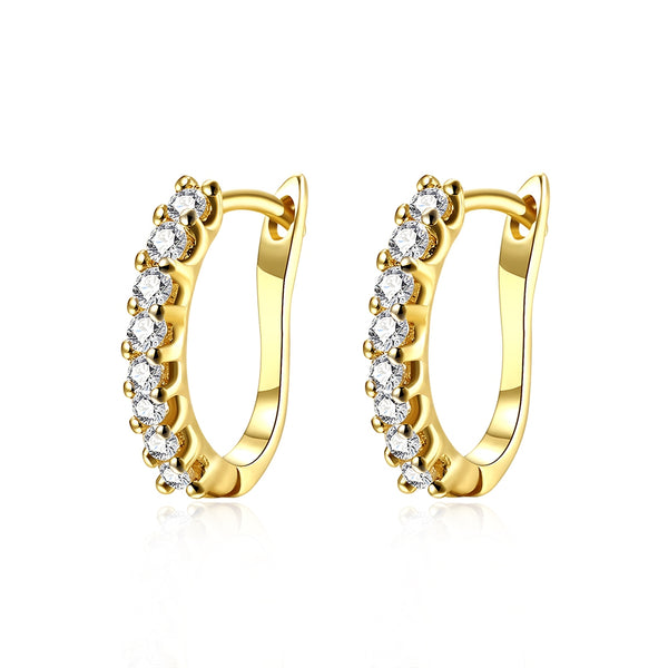 Fashion K Gold Fashion Diamond Set Earring Buckle Plated with Gold - KB ALL ABOUT SERVICEZ