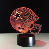 Dallas Cowboys  7 Colors Change acrylic USB LED Table Lamp - KB ALL ABOUT SERVICEZ
