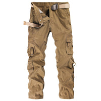 Solid Color Pocket Cargo Pants - KB ALL ABOUT SERVICEZ