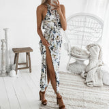Bohemian style Womens Long Dress Summer Print Maxi Evening Party Beach Floral Dress - KB ALL ABOUT SERVICEZ