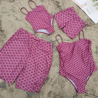 Family Swimwear Beach Match Swimsuit Mom And Daughter One-piece Swimsuit - KB ALL ABOUT SERVICEZ