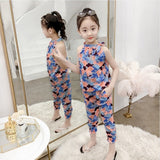 Teen Girls Chiffon Sets Girls Clothes White Cartoon Short Sleeve T-Shirt+Veil Dress 2Pcs Children Clothes - KB ALL ABOUT SERVICEZ
