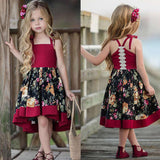 Sweet Toddler Baby Girls Sleeveless Dress Party Princess Floral Sundress Outfit - KB ALL ABOUT SERVICEZ