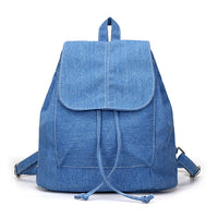 Denim Canvas Women Backpack Drawstring School Bags - KB ALL ABOUT SERVICEZ