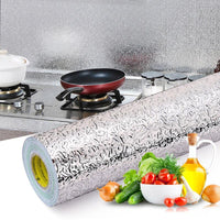 40x100cm Kitchen Oil-proof Waterproof Stickers Aluminum Foil Kitchen Stove Cabinet Self Adhesive Wall Sticker DIY  Wall Decor - KB ALL ABOUT SERVICEZ