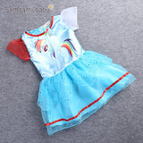 SAMGAMI BABY New Summer Cute Dress Little Girls Dress my Pony Spring Girl Short Sleeve Dresses My girls Princess For Little Pony - KB ALL ABOUT SERVICEZ