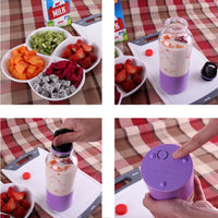 500ml Electric Juicer Cup Mini Portable USB Rechargeable Juicer Blender Maker Shaker Squeezers Fruit Orange Juice Extractor - KB ALL ABOUT SERVICEZ