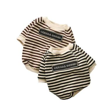 pet clothing round neck striped terry sweater  cow  dog clothes - KB ALL ABOUT SERVICEZ