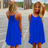 Women beach dress fluorescence female summer dress chiffon voile women dress - KB ALL ABOUT SERVICEZ