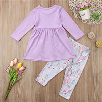 Unicorn Girls Clothing Sets Family Clothes Sets Kids Baby Girls Outfits Clothes Long Sleeve T Shirt Top+ Leggings Children 2Pcs - KB ALL ABOUT SERVICEZ