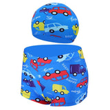 Ocean Fish Summer Kids Boys Swimming Trunks /Cap Children Youth Swimwears Bathing Suits Beach Swimsuits - KB ALL ABOUT SERVICEZ