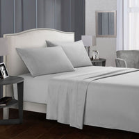 White Bedding Set Queen size Bed sheets Solid color Flat Sheet+Fitted Sheet+Pillowcase Bed Linens - KB ALL ABOUT SERVICEZ