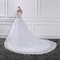 Princess Wedding Dresses Off Shoulder Applique Lace Sweetheart Ball Gown Bridal Robe - KB ALL ABOUT SERVICEZ