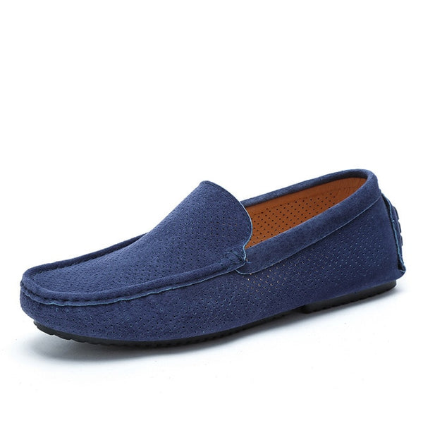 Summer Men Loafers Genuine Leather Casual Shoes Fashion Slip On Driving Shoes - KB ALL ABOUT SERVICEZ
