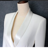 New Fashion 2018 Runway Designer Dress Women's Long Sleeve Double Breasted Notched Collar Dress - KB ALL ABOUT SERVICEZ