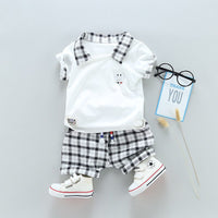 Two Children's Clothing Boy Cotton Suit Gentleman Undertakes Small Children's Clothing - KB ALL ABOUT SERVICEZ
