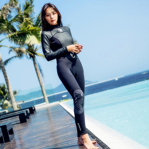 1.5mm Neoprene Wetsuit Women Fullbody Surfing Diving Snorkeling Swimming Suit - KB ALL ABOUT SERVICEZ