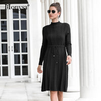 New Arrival Fashion Casual Knee Length Knitted Dress - KB ALL ABOUT SERVICEZ