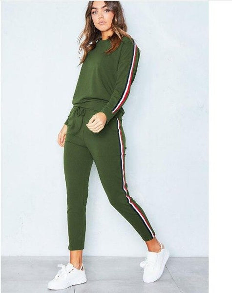 Women 2 Piece Clothing Set Leisure Sports Suit Sweatshirt+Pants Tracksuit for Women Suit - KB ALL ABOUT SERVICEZ