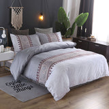 Printing Duvet Cover Sets Polyester Plain Printed Bedding Set Reactive Printing Duvet Cover With Pillowcases Bedding Set - KB ALL ABOUT SERVICEZ