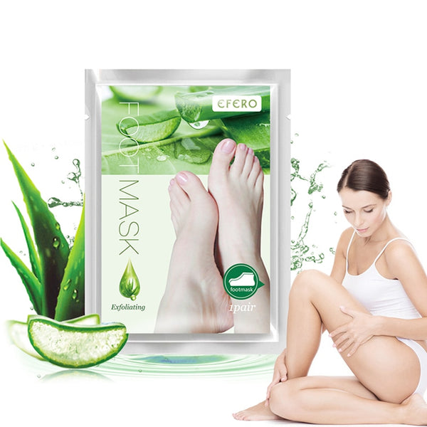 Baby Feet Exfoliating Foot Mask Socks for Pedicure Aloe Foot Peeling Mask Remove Dead Skin Exfoliation Feet Legs Foot Mask TSLM1 - KB ALL ABOUT SERVICEZ