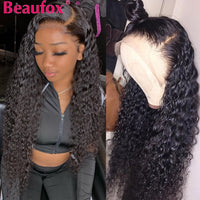 Brazilian Water Wave Lace Front Human Hair Wigs Front Lace Wigs Remy150% - KB ALL ABOUT SERVICEZ