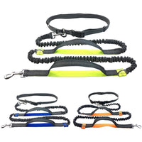 Pet Dog Running Leash Rope with2 handles DogJoging Walking Leash with Reflective Hands - KB ALL ABOUT SERVICEZ