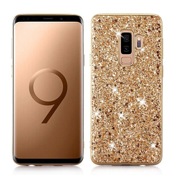 Phone Case for Samsung Galaxy S9 Plus Case Silicon Bling Glitter Crystal Sequins Soft TPU Cover Fundas for Samsung S9 Plus S9 - KB ALL ABOUT SERVICEZ