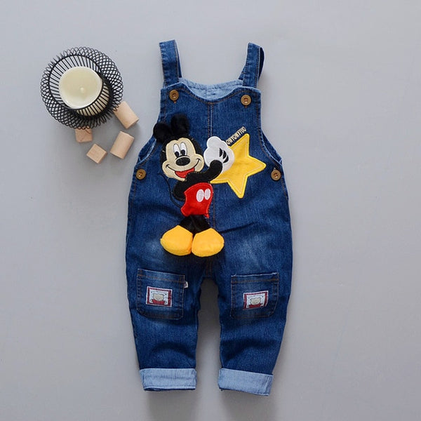 Cartoon Baby Boy Clothes Denim Pants Elastic Waist Trousers Children's Jeans - KB ALL ABOUT SERVICEZ