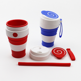 450ML Collapsible coffee cup  Coffee Cups Travel Collapsible Silicone Portable Tea Cup - KB ALL ABOUT SERVICEZ