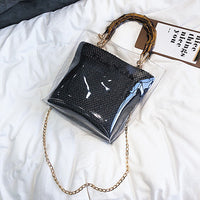 Small Handbag Transparent Women Hand Bags Chain Straw bag Lady Travel Beach Shoulder Cross Body Bag Holiday-in Shoulder Bags - KB ALL ABOUT SERVICEZ