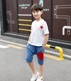 Teenage Boy Clothes Children Clothing Set Cotton Sweatshirt + Pants Two-Piece Casual Sequins Kids Clothes - KB ALL ABOUT SERVICEZ