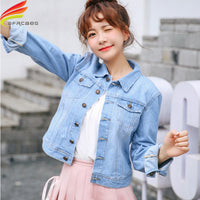 Denim Jacket Women Long Sleeve Turn-down Jeans Jacket For Women Ladies Coats and Jacket - KB ALL ABOUT SERVICEZ