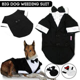 Dog Wedding Clothes Western Style Tuxedo With Bow Tie Big Dog Gentleman Formal Party Costume Suit - KB ALL ABOUT SERVICEZ