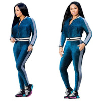 European leisure digital printing Tight leg movement pants suit two-piece - KB ALL ABOUT SERVICEZ