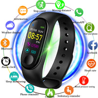 M3 Smart sports watch Women Smart Watch Men Heart Rate Blood Pressure Monitor Fitness Tracker Pedometer Watch - KB ALL ABOUT SERVICEZ