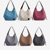 Women's Canvas Handbags  Single Shoulder Bags  Ladies Totes - KB ALL ABOUT SERVICEZ