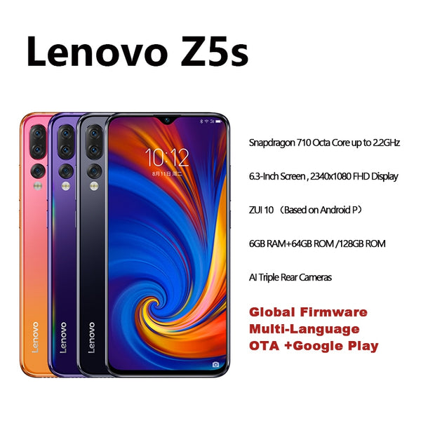 Lenovo Z5s Snapdragon 710 Octa Core 6GB 128GB SmartPhone Face ID 6.3 AI Triple Rear Camera  Android P Cellphone - KB ALL ABOUT SERVICEZ